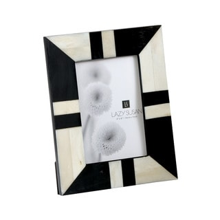 Dimond Home Stone Resin Black And White Horn And Bone Picture Frame