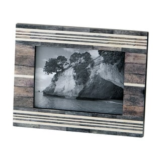 Dimond Home Stone Resin Grey And White Horn And Bone Picture Frame
