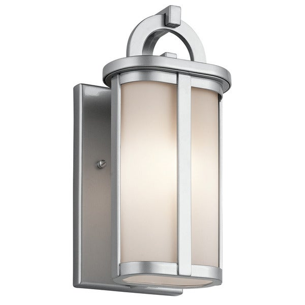 Kichler Lighting Rivera Collection 1 light Platinum Outdoor Wall LanternKichler Lighting Rivera Collection 1 light Platinum Outdoor Wall  . Kichler Lighting Outdoor Sconce. Home Design Ideas