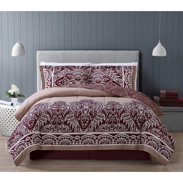 Fergana 8-piece Bed-in-a-Bag with Embroidered Sheet Set