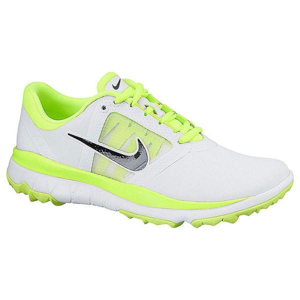 Womens Shoes Nike Golf FI Impact White/Volt/Black