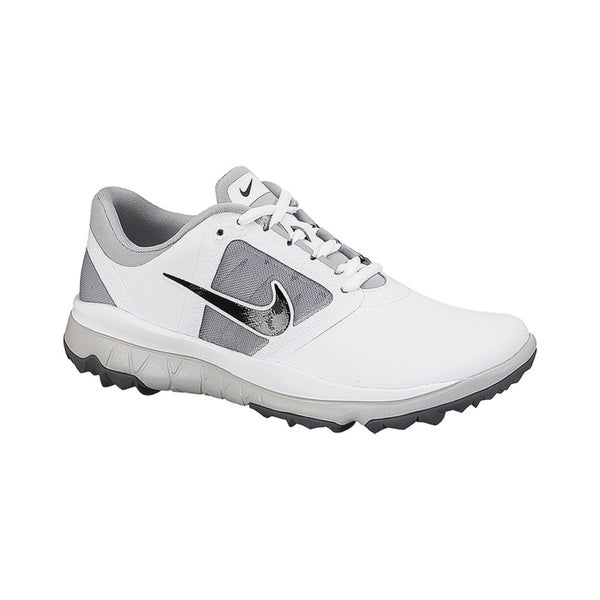 ac8d9fa85da4 Shop Nike Women s FI Impact White  Grey  Black Golf Shoes - Free Shipping  Today - Overstock - 10449012