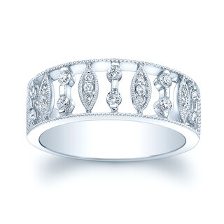 Estie G 14k White Gold 1/3ct TDW Diamond Ring