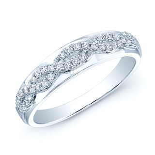 Estie G 14k White Gold 1/5ct TDW Diamond Band