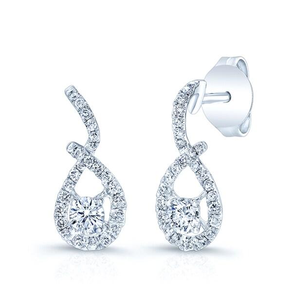 c00fbe2c4dea9 Estie G 14k White Gold 1/5ct TDW Diamond Teardrop Earrings