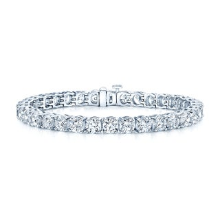 Estie G 18k White Gold 17 3/4ct TDW Diamond Bracelet (H-I, VS1-VS2)