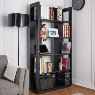 Furniture of America Bollis Contemporary Black 5-Shelf Bookcase