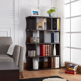 Furniture of America Zeno Contemporary Walnut Bookcase/Display Shelf