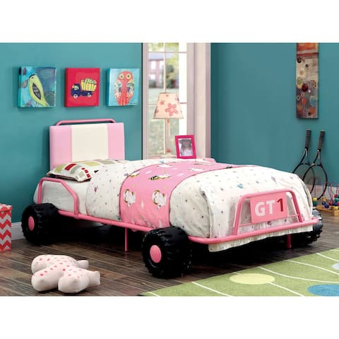 Furniture of America Tere Novelty Twin Metal Racing Bed Frame