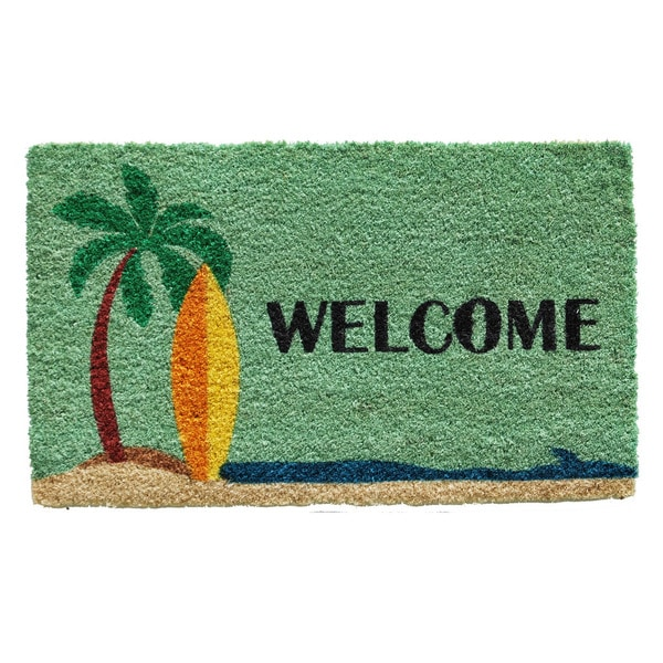 Surfs up doormat free shipping on orders over 45 overstock 17542394 Home goods palm beach gardens