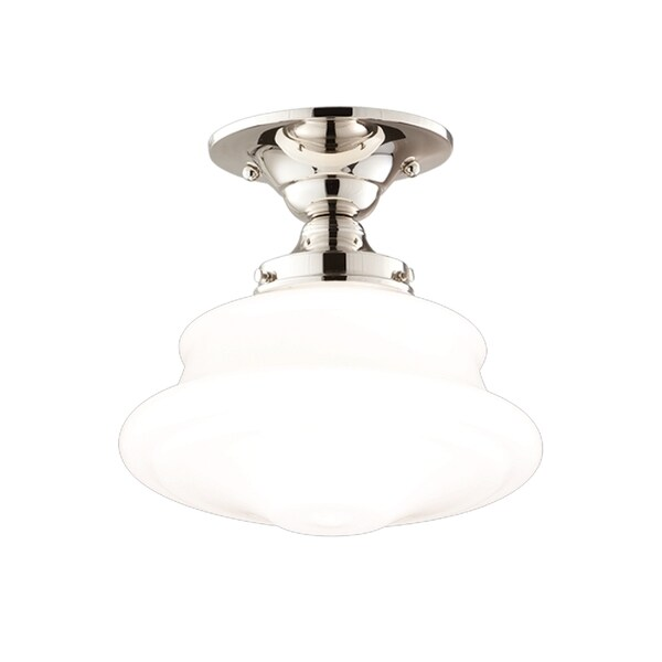 Hudson Valley Petersburg 1-light Polished Large Semi Flush