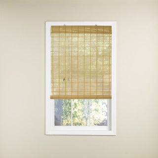 Lewis Hyman Winfield Collection Bamboo Rollup Shade in Natural Finish