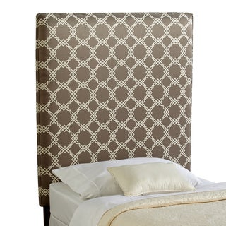 Humble + Haute Bingham Twin Size Grey/ Taupe Upholstered Headboard