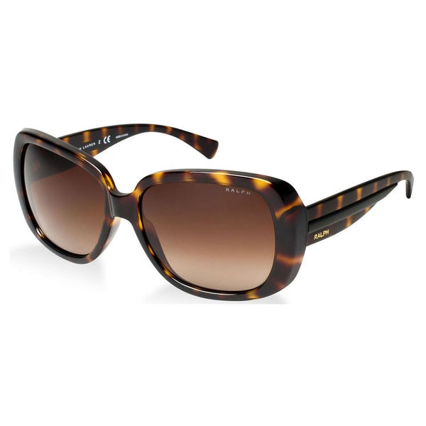 6a2af032ab Ralph by Ralph Lauren Women  x27 s RA5166 Plastic Square Sunglasses -  Tortoise