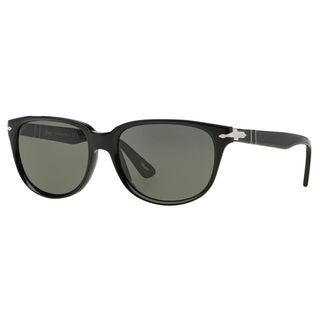 Persol Men's PO3104S Plastic Oval Polarized Sunglasses