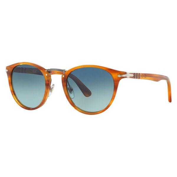 68d5616e98 Persol Men  x27 s PO3108S Plastic Phantos Polarized Sunglasses - Brown -  Large