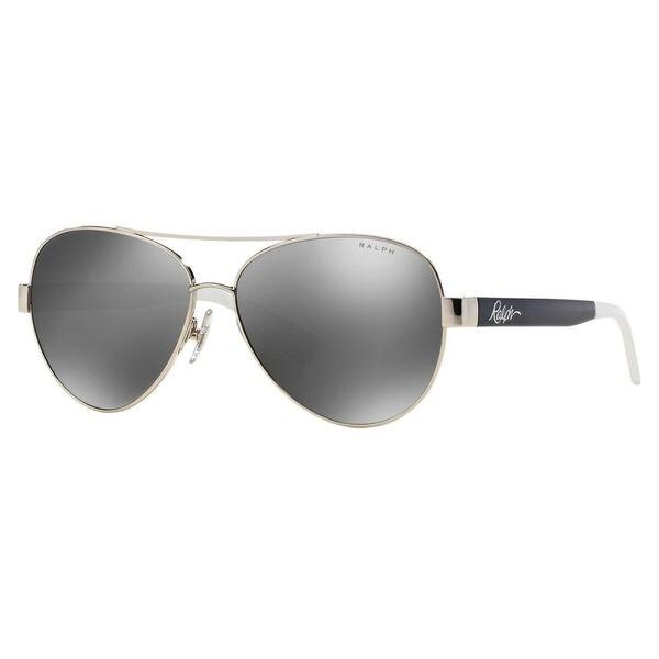 4e70104594d5 Ralph by Ralph Lauren Women's RA4114 Metal Pilot Sunglasses - Silver