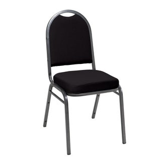 Im520 Blue/ Red/ Black Armless Stacking Chair Fabric Silver Frame 2-inch Seat
