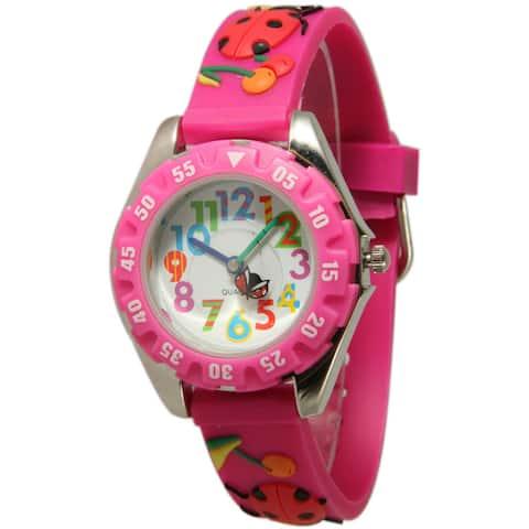 Olivia Pratt Kids' Ladybug Watch - Pink