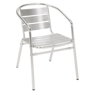 Aluminum Stackable Arm Chair Anodized Aluminum Frame