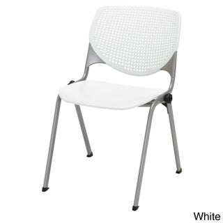 KFI Seating KOOL Polypropylene Stack Chair with Perforated Back (Option: Yellow)