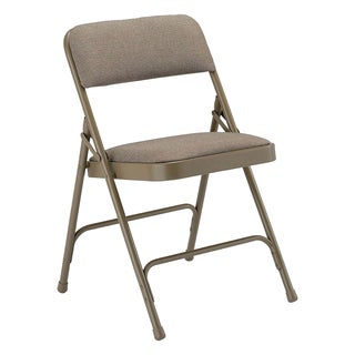 8100 Folding Chair Beige Fabric and Frame