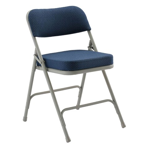 KFI 8200 Folding Chair Fabric Grey Frame