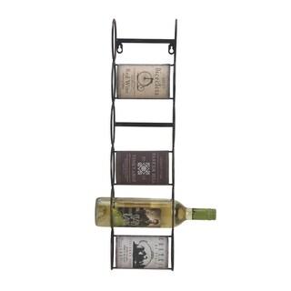 Elements Vintage Label Metal Wine Holder