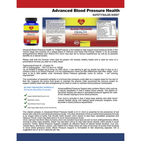 Shop Advanced Blood Pressure Cardiovascular Support 90 Capsules