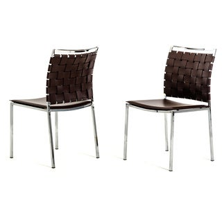 Modrest 3031 Modern Brown Eco-leather Dining Chair (Set of 2)