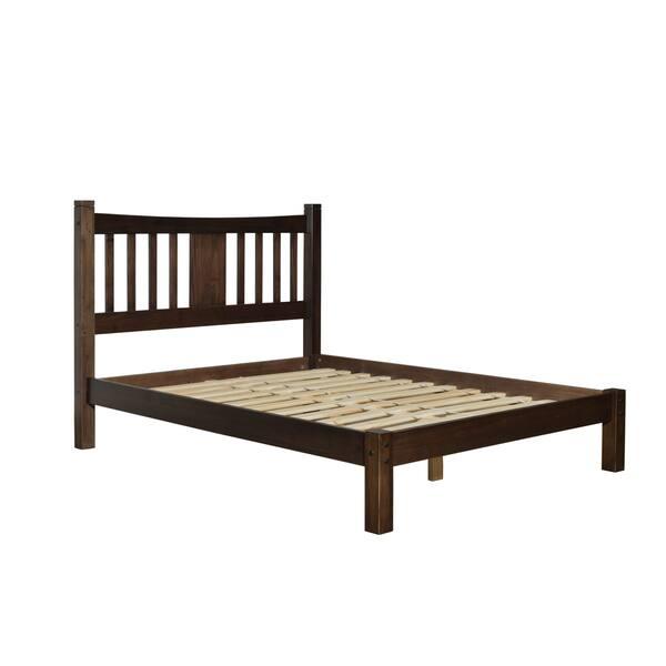 4aac89a17b Shop Grain Wood Furniture Shaker Queen Slat Platform Bed solid wood ...
