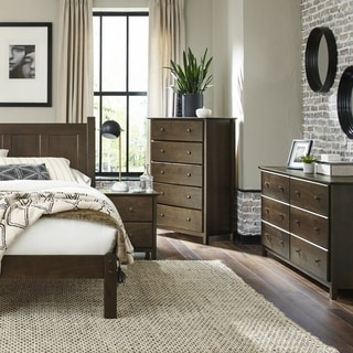Grain Wood Furniture Shaker Solid Wood QueenPlatform Bed