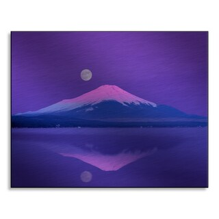 Gallery Direct Gyro Photography 'Mt. Fuji below full moon, Yamanashi Prefecture, Japan.' Aluminum Mounted