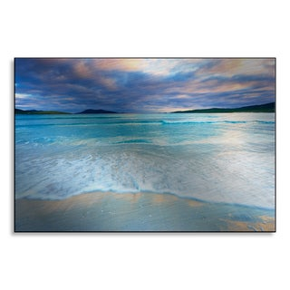 Gallery Direct Tim Hurst 'Waves Breaking on Beach, Traigh Rosamal, Isle of Harris, Outer Hebrides, Scotland' Alumin