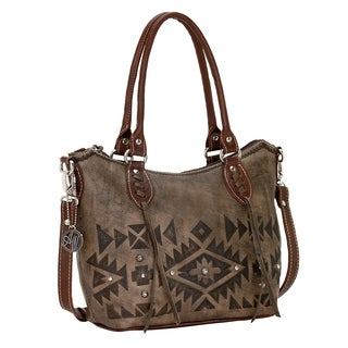 American West Mystic Shadow Convertible Zip Top Tote Bag