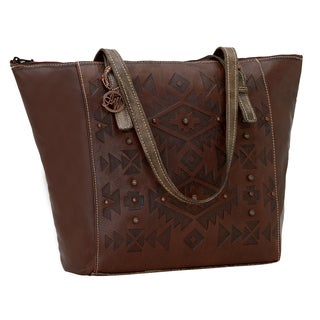 American West Mystic Shadow Collection Zip Top Bucket Tote