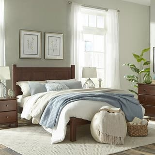 Grain Wood Furniture Shaker Panel Queen Solid Wood Platform Bed (Option: Cherry Finish)|https://ak1.ostkcdn.com/images/products/10449983/P17543065.jpg?impolicy=medium