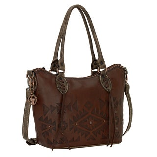 American West Mystic Shadow Collection Convertible Zip Top Tote