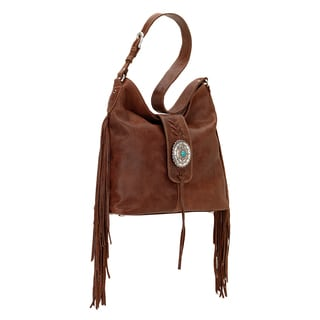 American West Seminole Brown Hobo Handbag