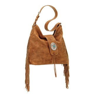 American West Seminole Tan Hobo Handbag