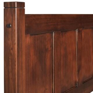 Grain Wood Furniture Shaker Solid Wood Full-size Panel Platform Bed