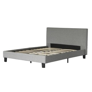 Hadwen Grey Fabric Upholstery Full/ Queen Size Platform Bed