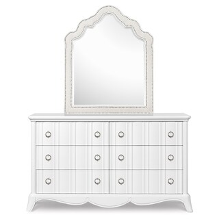 Magnussen Y2194 Gabrielle Wood Shaped Upholstered Mirror (Mirror Only)