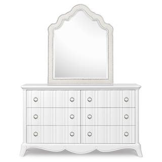 Magnussen Y2194 Gabrielle Wood Shaped Upholstered Mirror (Mirror Only)|https://ak1.ostkcdn.com/images/products/10450082/P17543166.jpg?impolicy=medium