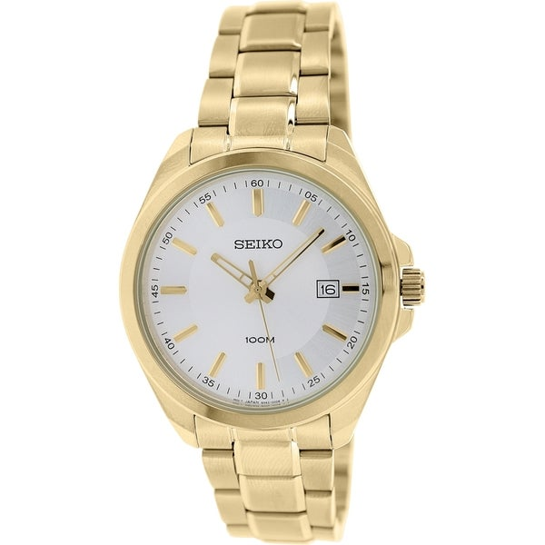 Seiko Men S Sur064 Antique Gold Stainless Steel Quartz