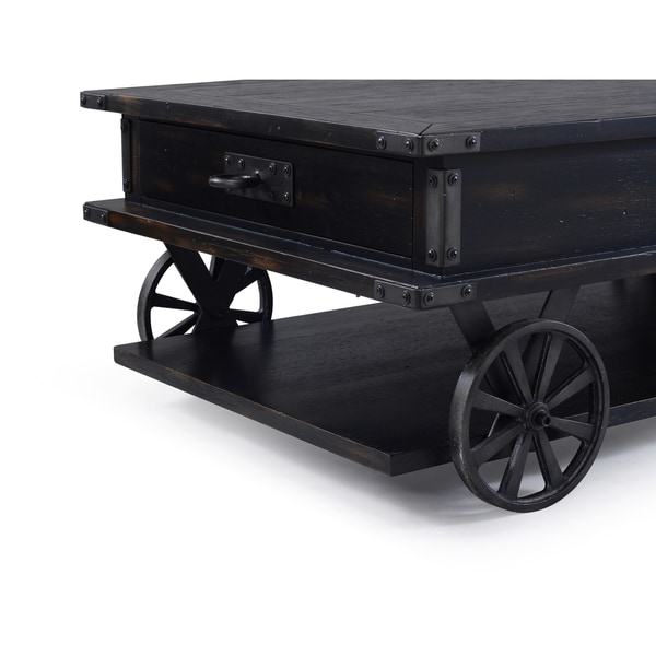 Industrial Casters For Coffee Table: Shop Sheffield Industrial Distressed Antique Black Storage