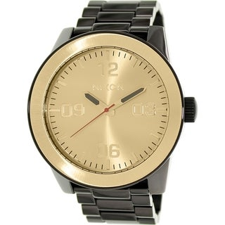 Nixon Men's Corporal A346010 Black Stainless Steel Quartz Watch