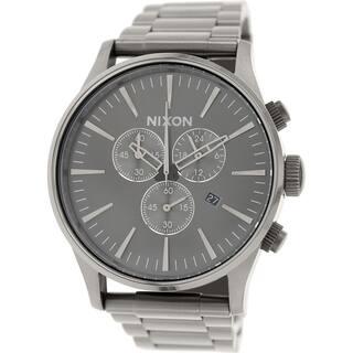 Nixon Men's Sentry A386632 Stainless Steel Quartz Watch|https://ak1.ostkcdn.com/images/products/10450151/P17543220.jpg?impolicy=medium