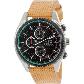Armani Exchange Men's AX1608 Brown Leather Quartz Watch