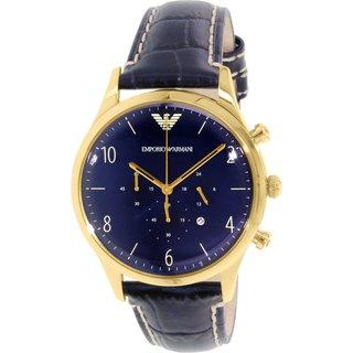 Emporio Armani Men's Classic AR1862 Blue Leather Quartz Watch